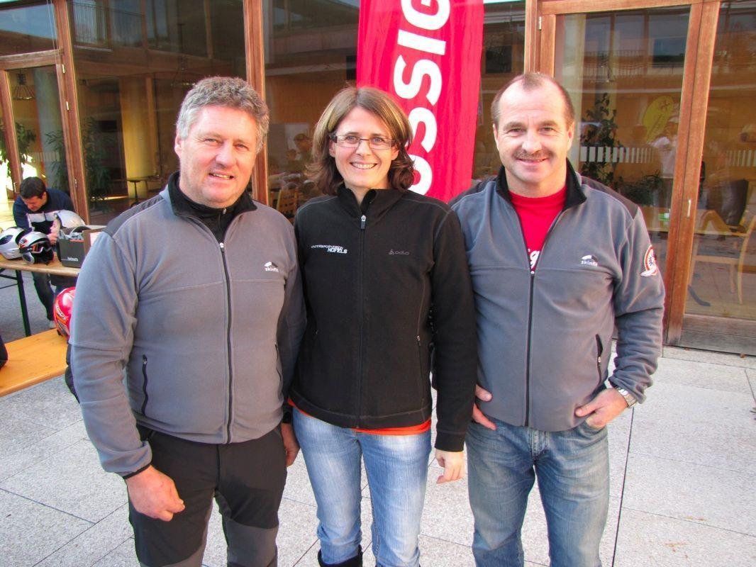 Michael Lampert (ehem. Obmann), Karin Amann (Obfrau) und Hans Dunst (Vize)