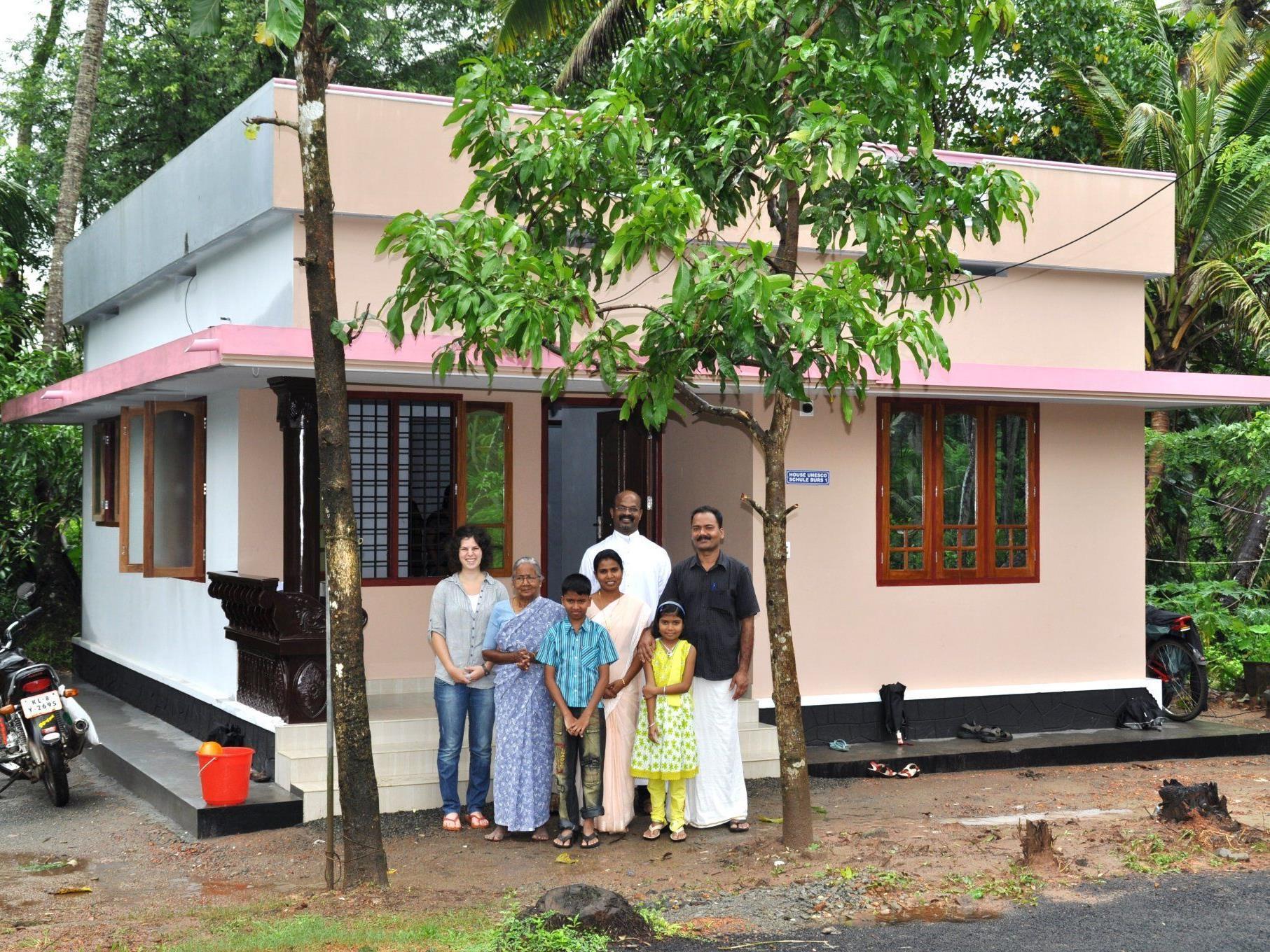 Durch das Engagement der Bürser  konnten neun Häuser in Indien finanziert werden.