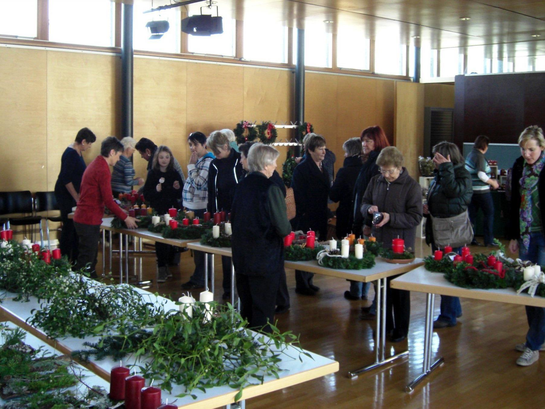 Gut besucht war der Adventbasar in Nenzing.