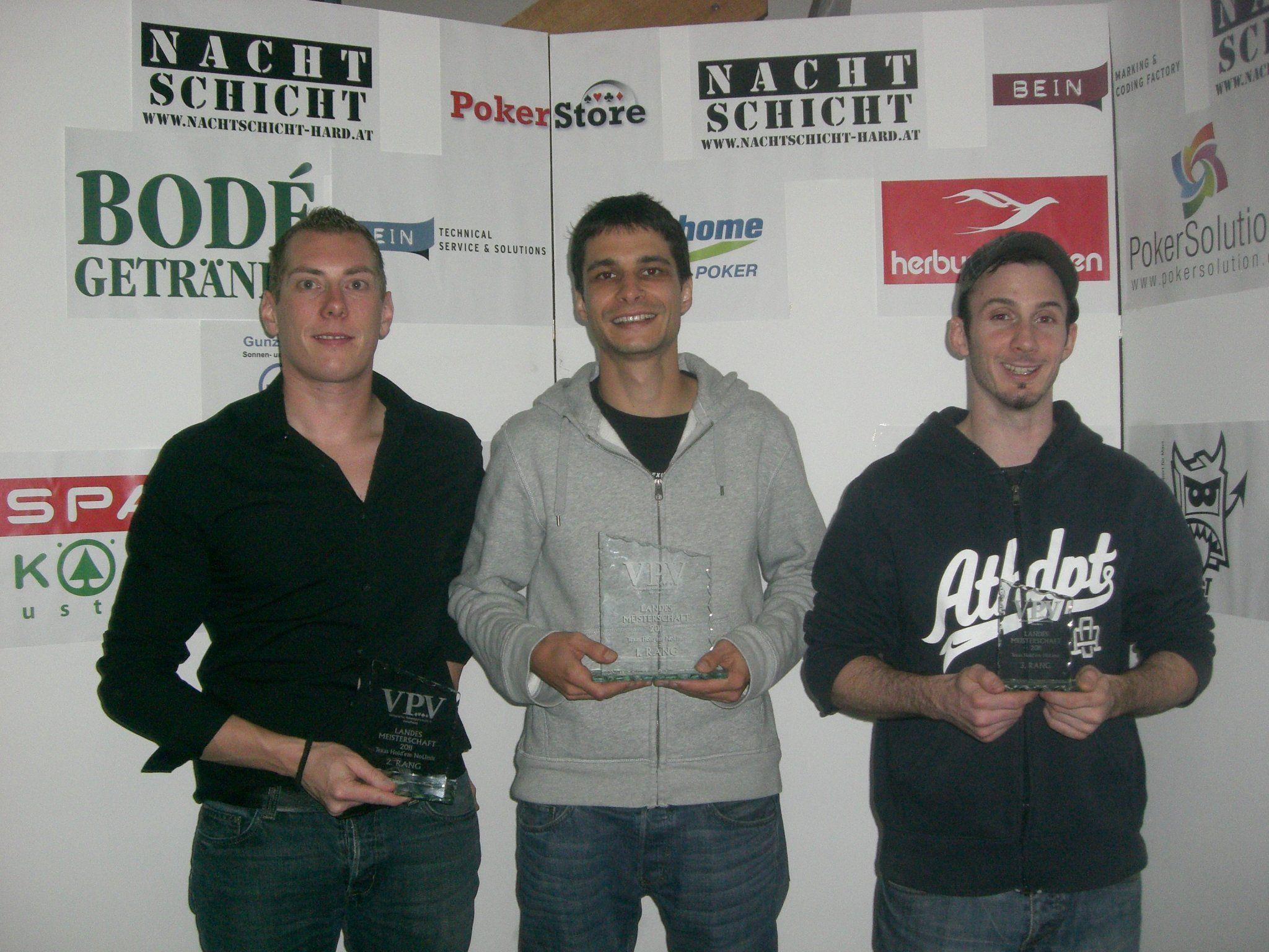 Das Siegerbild v.l.n.r.: Manuel Gohm, Peter Pfeifer und Marc Domig.