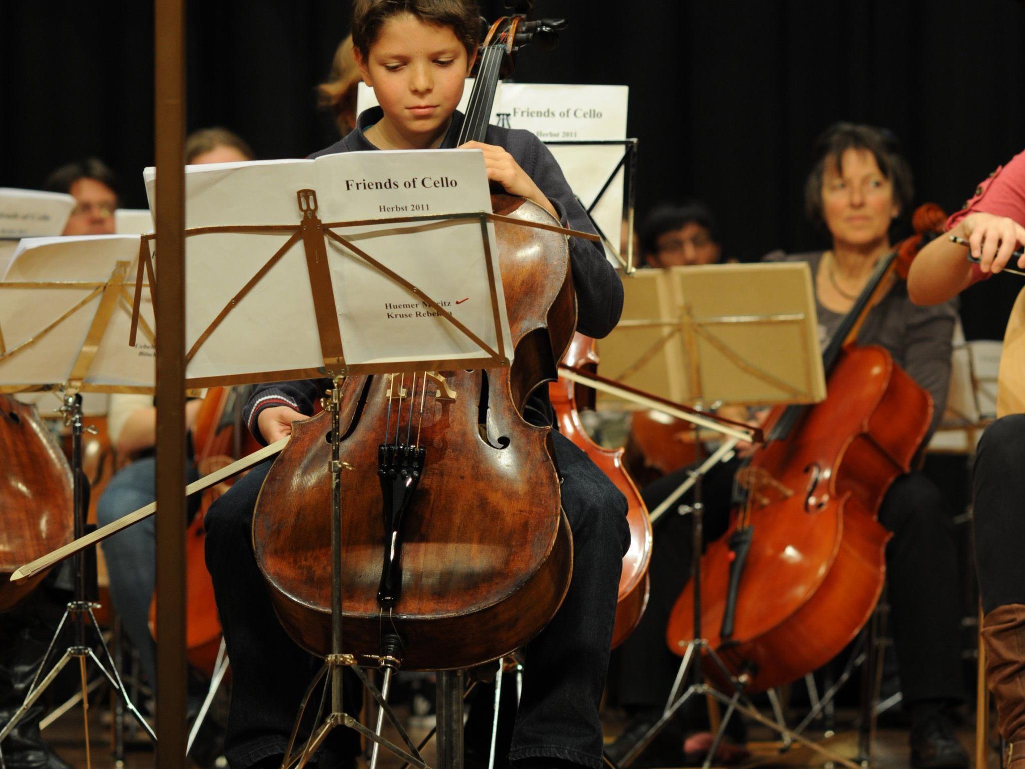 Der 12-jährige Moritz Huemer trat als Solist auf.