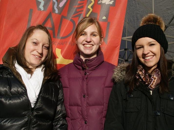 Hildegard Schneider, Bianca Hübler und Miriam Fink