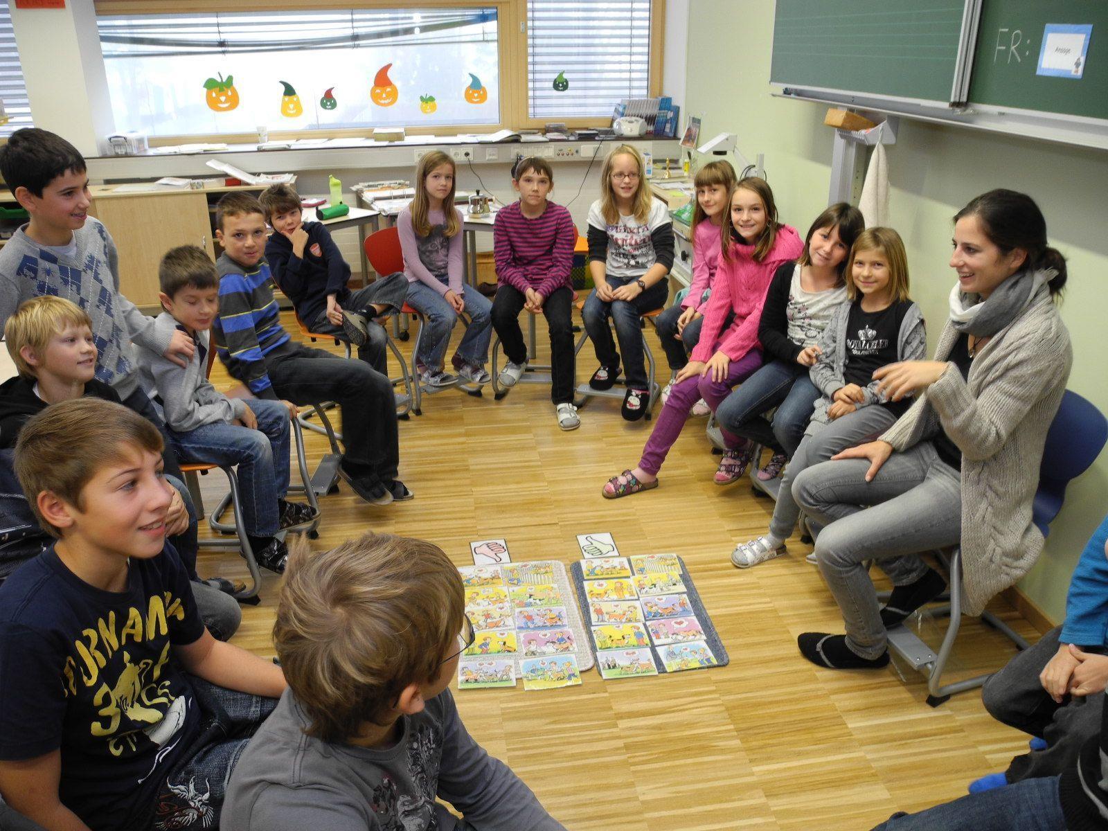 Die Klassenröume im Schulzentrum Oberaus sind im Durchschnitt 10 m² größer als vorgeschrieben