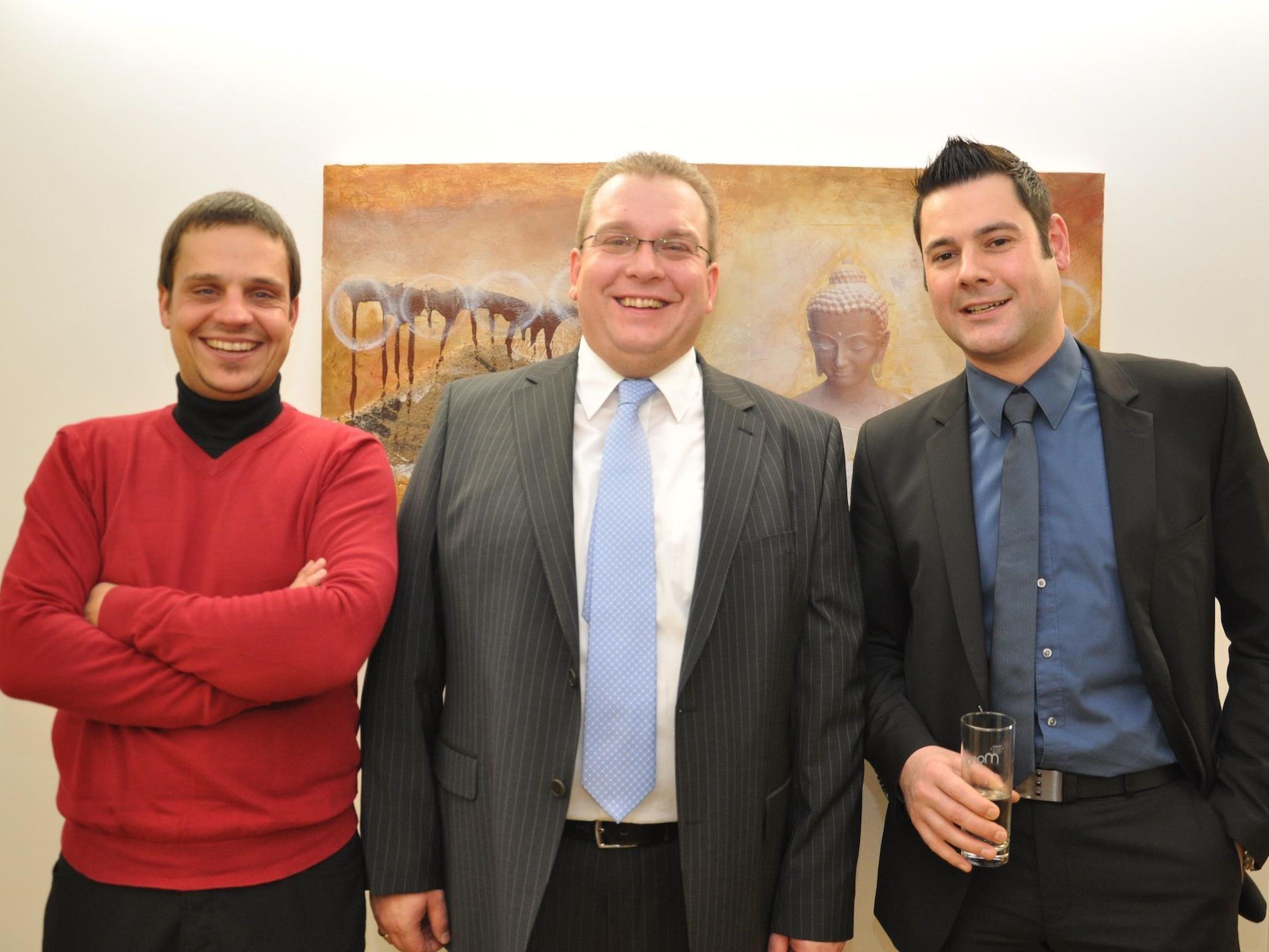 (v.l.) Stephan Loser, Harald Bernhart und Herbert Vogel.