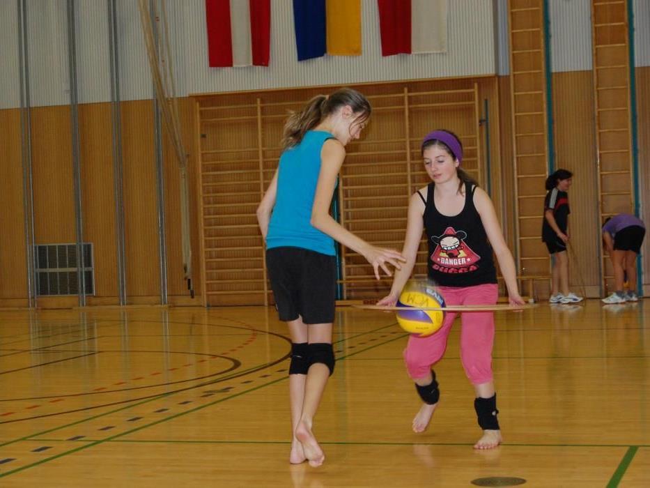Die Kinder und Jugendlichen haben viel Spaß beim Training.