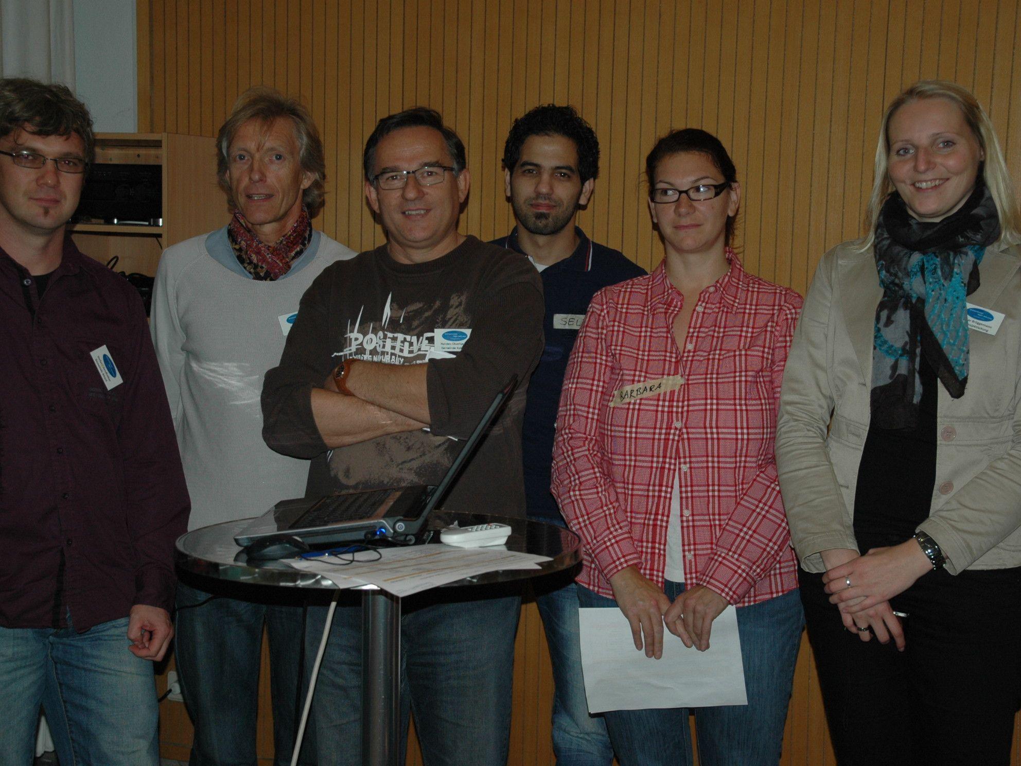 Organisatoren und Helfer bei der Zukunftswerkstatt im BORG Götzis