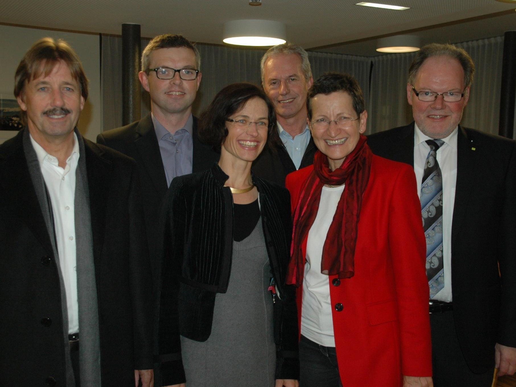 F. Maierhofer, M. Herburger, R. Weiskopf, G. Brändle, LR G. Schmid & W. Huber bei d. Eröffnung