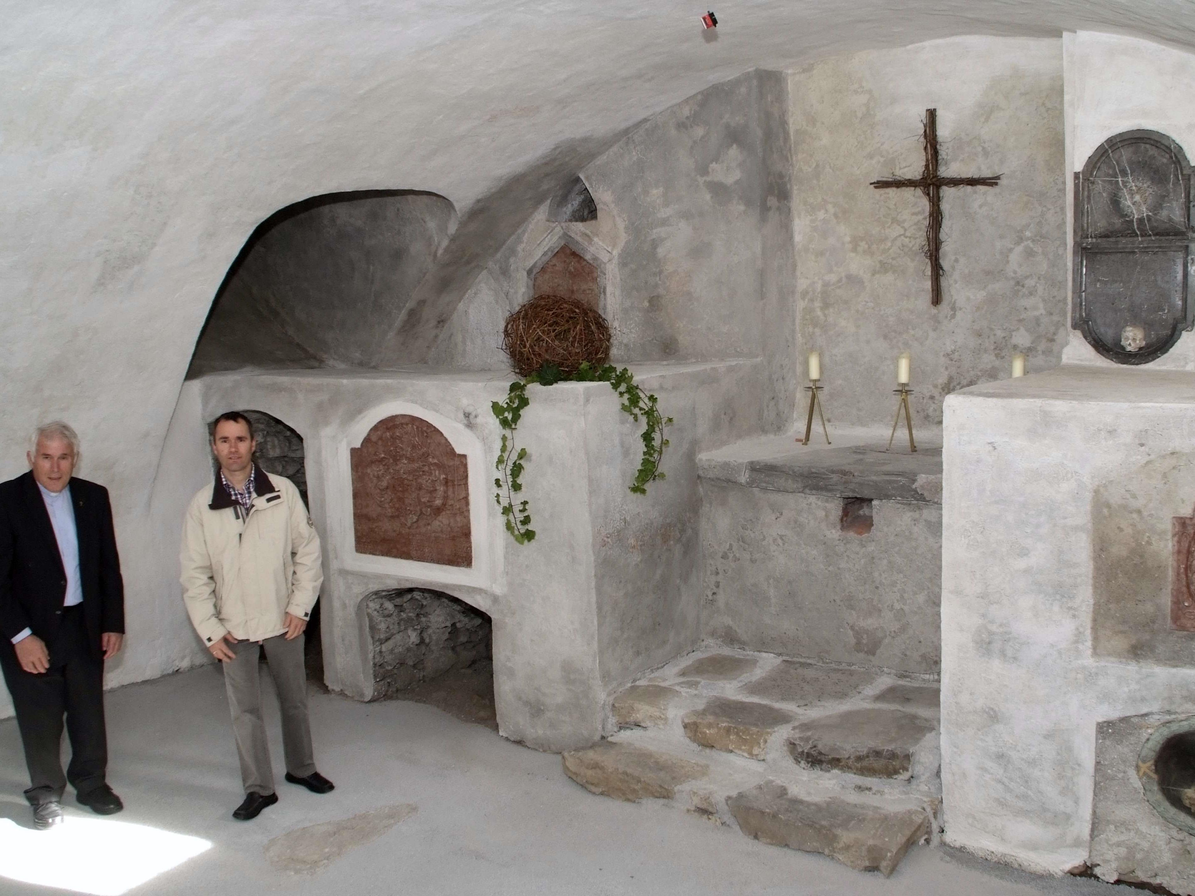 Die Krypta unterhalb der Bludescher Pfarrkirche ist wieder zugänglich.