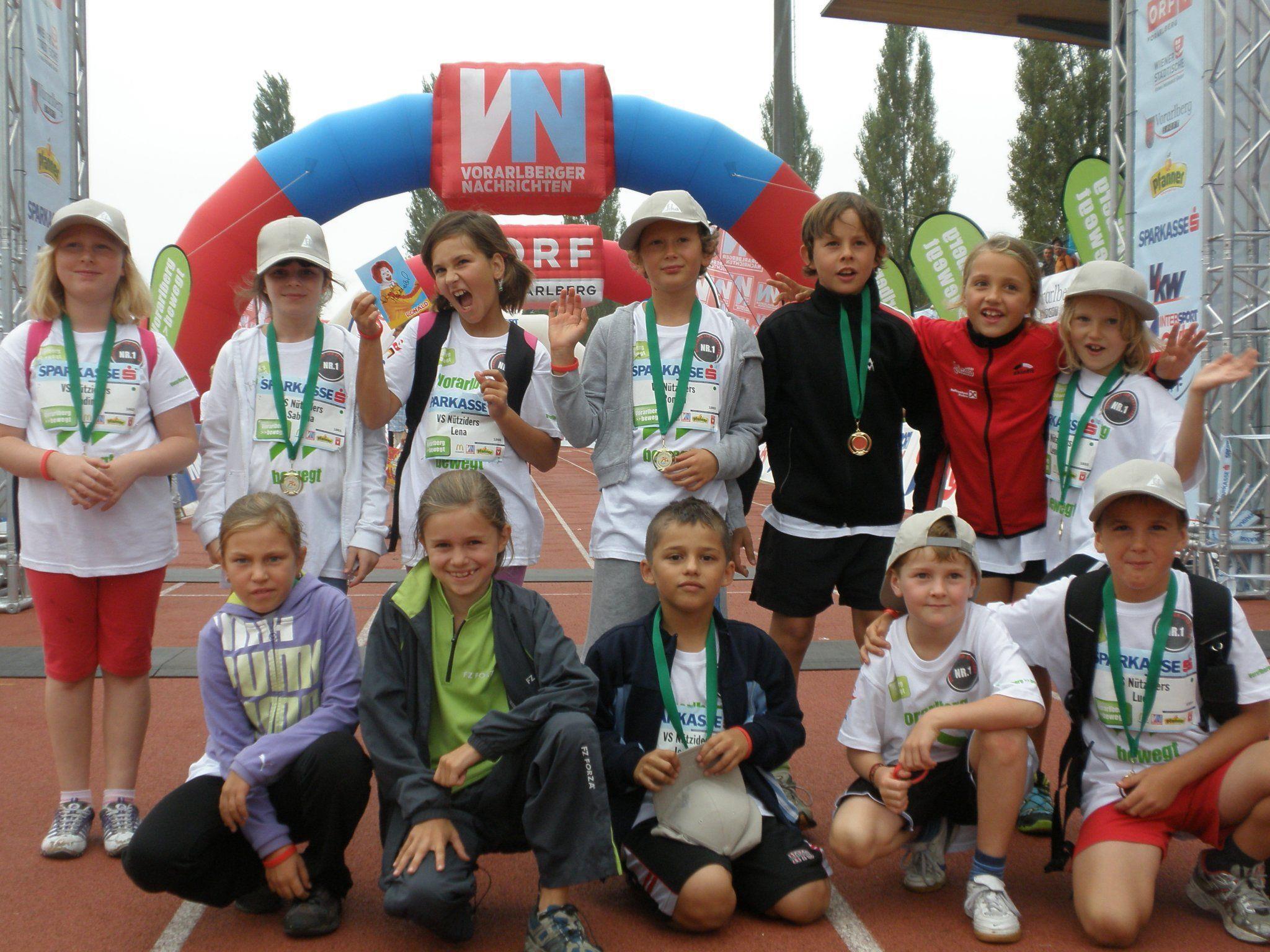 Sportliche Leistung: Die VS-SchülerInnen  plazierten sich hervorragend beim Kindermarathon