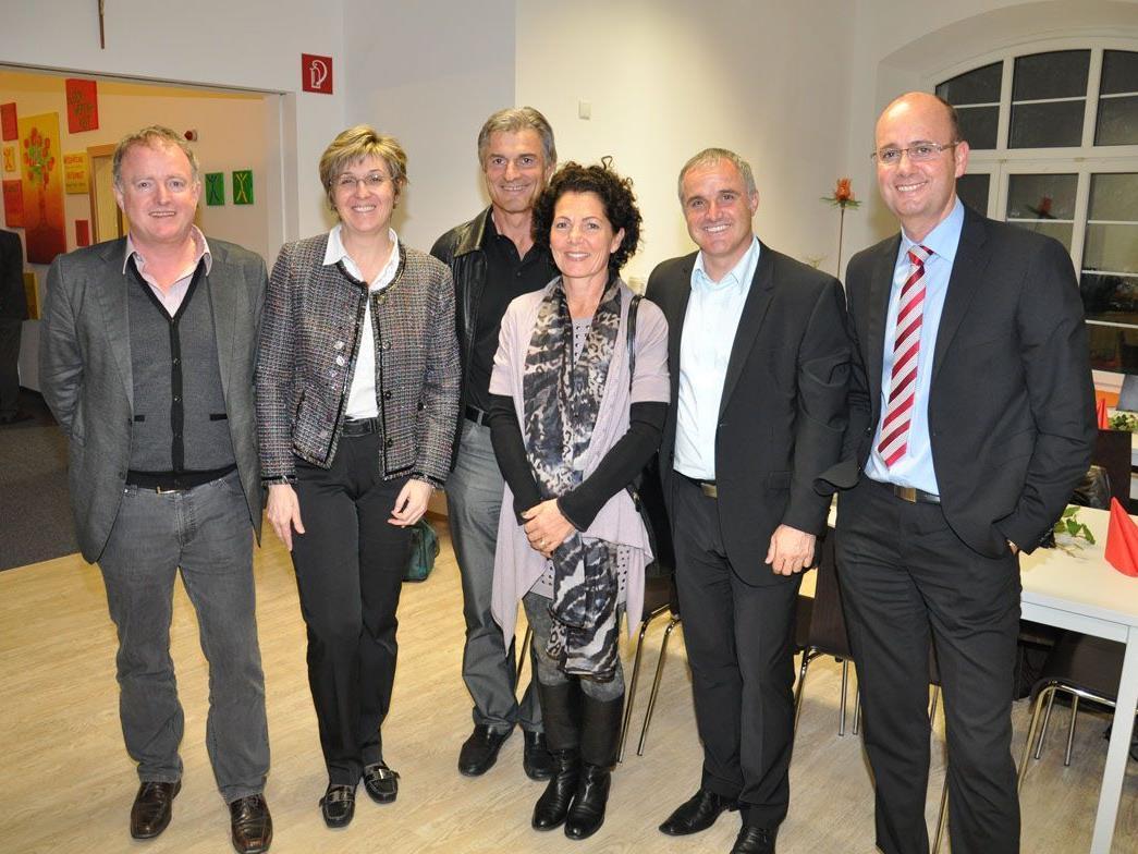 Manfred Ganahl mit den Sponsoren: Familie Erne, Familie Fischer und Peter Fertschnig von der IHG