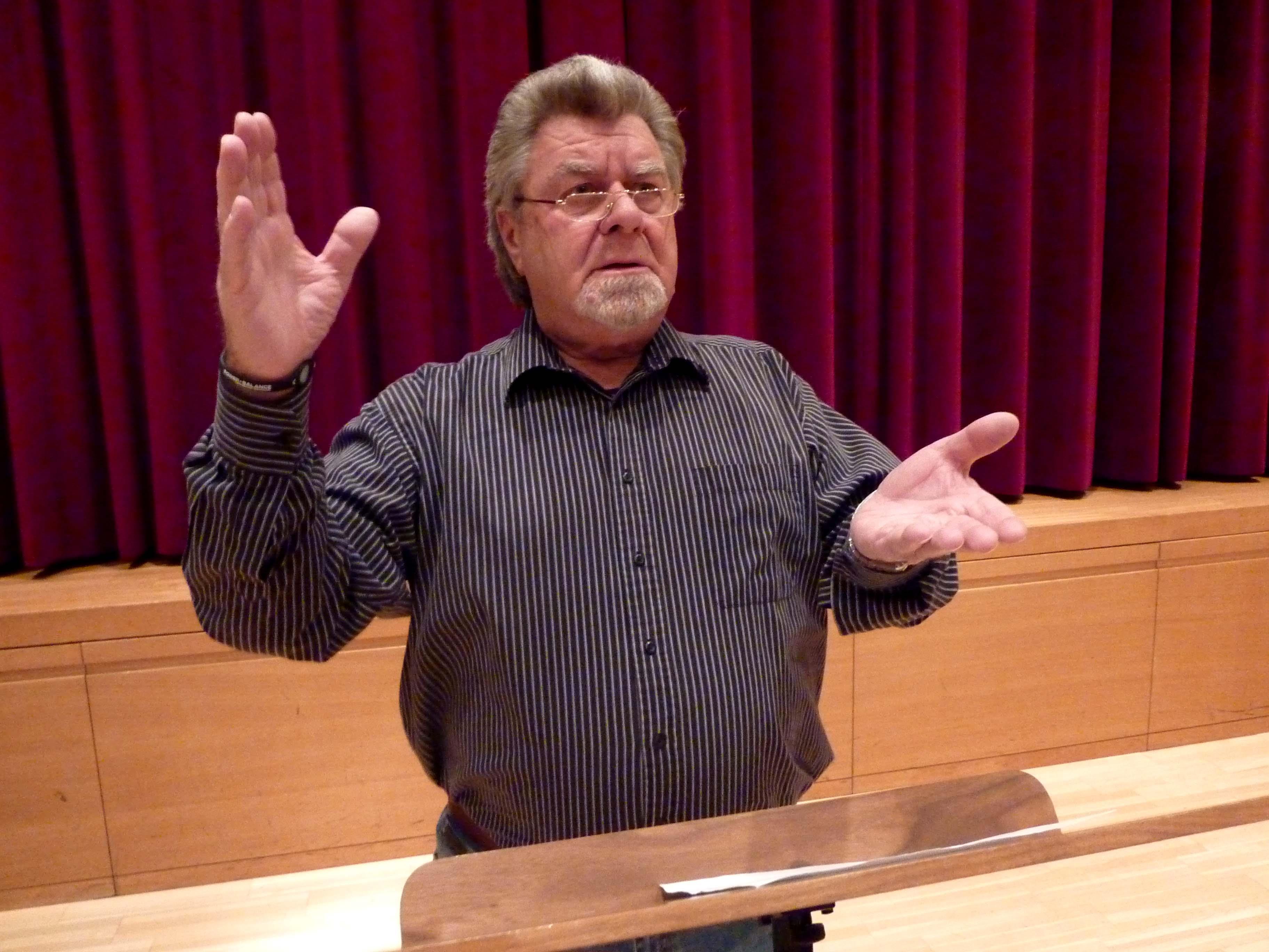 Der Götzner Herbert Heinzle ist einer, der den Kontakt zu den Menschen liebt.