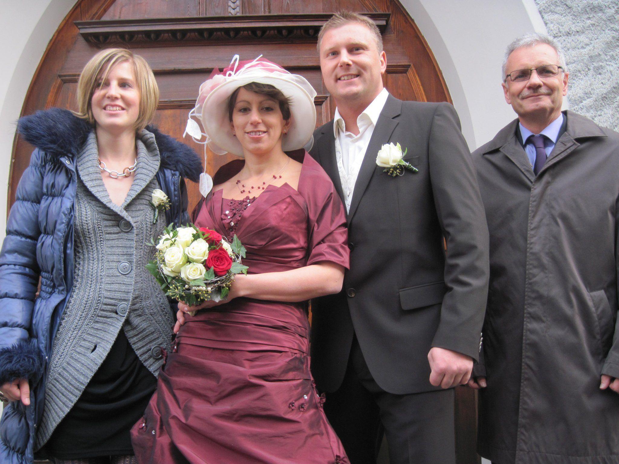 Barbara und Hubert Lugger haben in der Dreifaltigkeitskirche geheiratet