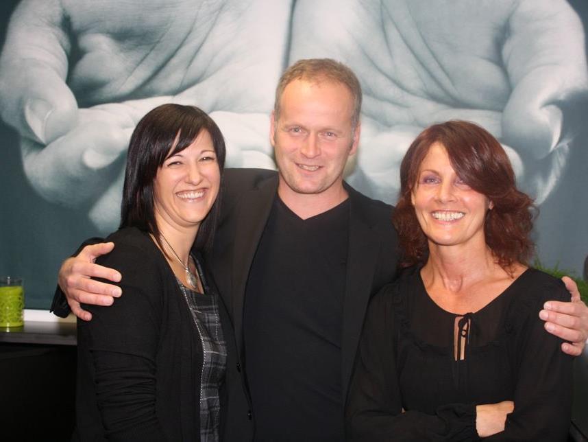 Das Team: Stefan Natter, Dagmar Silgener und Magdalena Omerzell