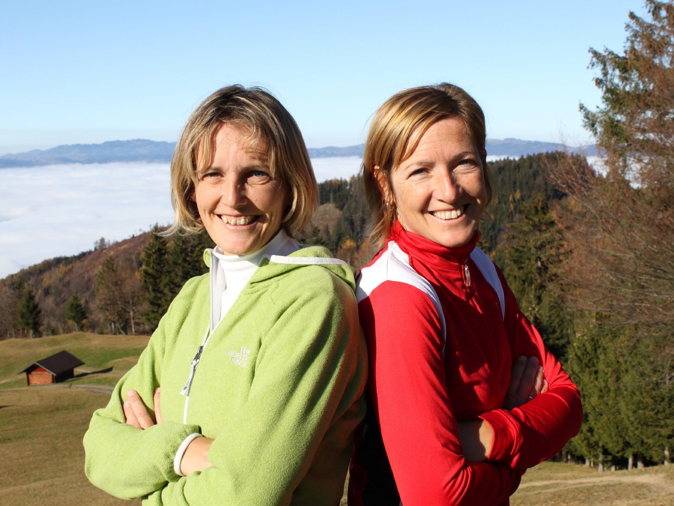 Wanderführerinnen Andrea Rüscher (li.) und Susanne Fickl.