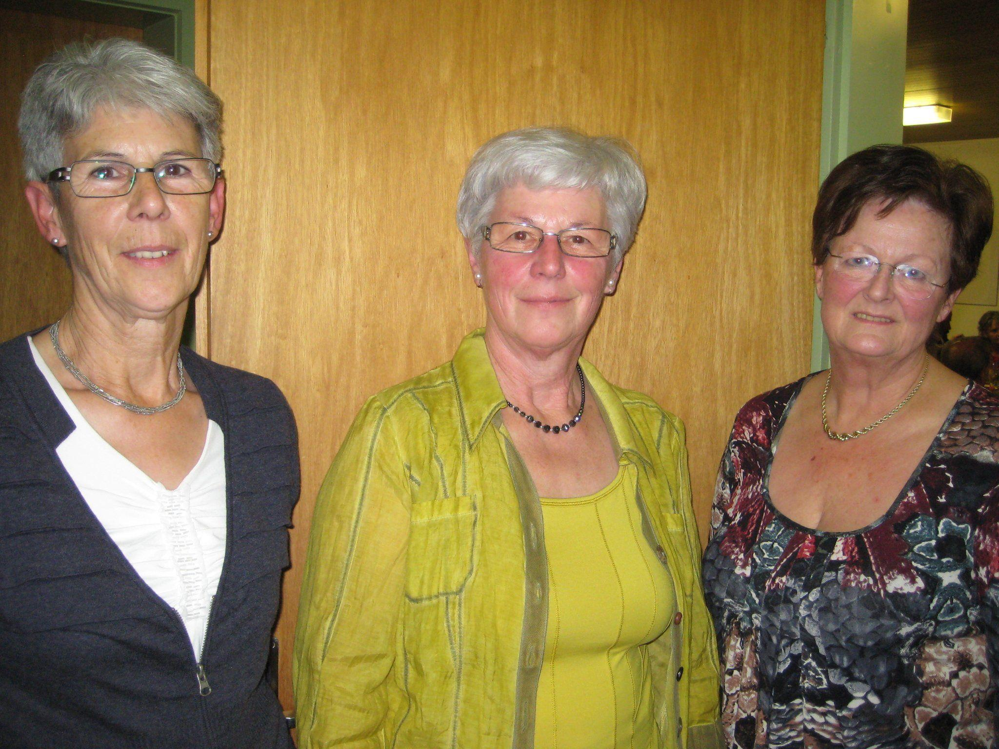 Gusti Giesinger, Rita Müller und Friedl Haueis