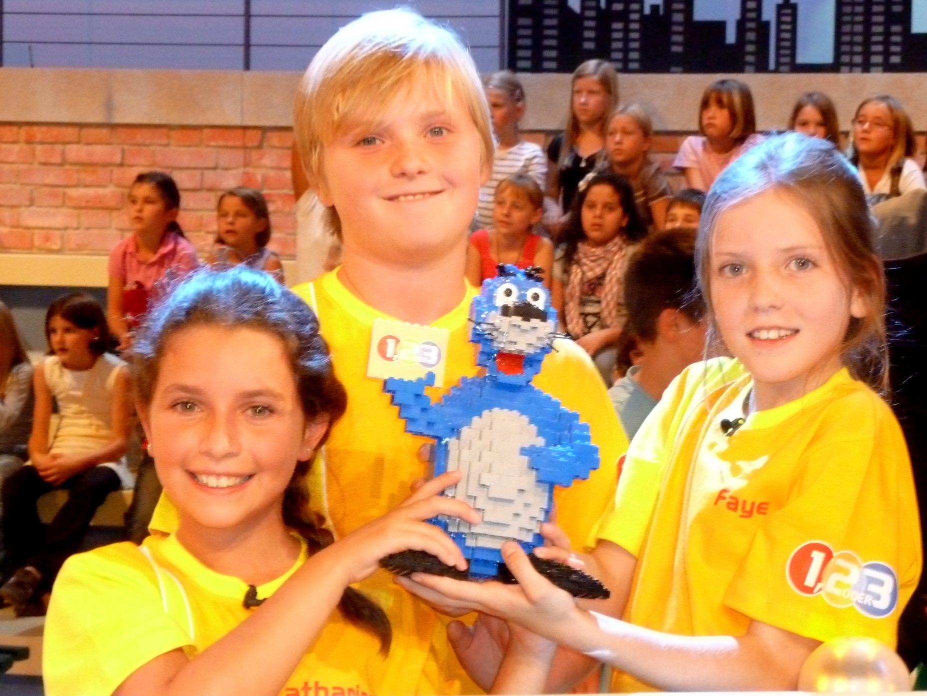 """Katharina Hehle, Lukas Schiller und Faye Bellet siegten bei """"1, 2 oder 3""""."""