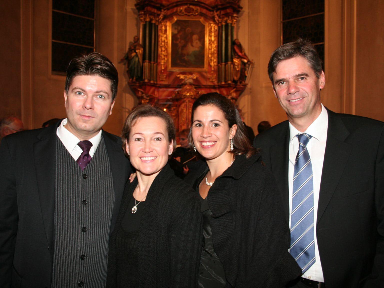Die Solisten Walter Ess, Birgit Plankel, Martina Gmeinder und Clemens Morgenthal