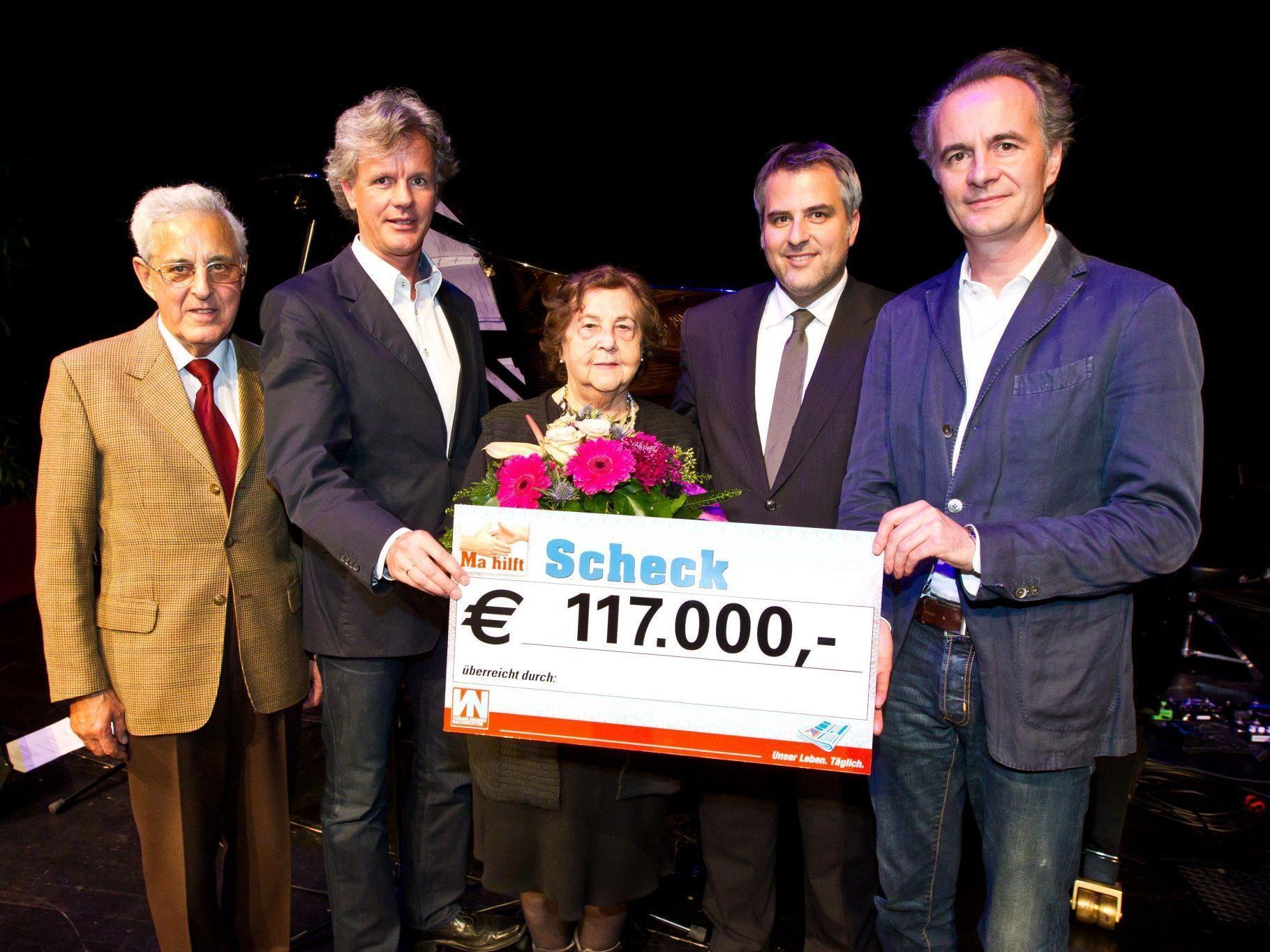 """117.000 Euro Reinerlös aus der diesjährigen """"Ma hilft""""-Gala"""