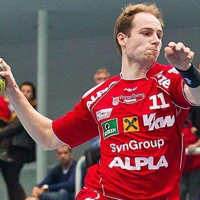 """Michael Jochum ist mit 47 Saisontreffern aktuell der erfolgreichste Werfer bei den """"Roten Teufeln"""" vom Bodensee."""