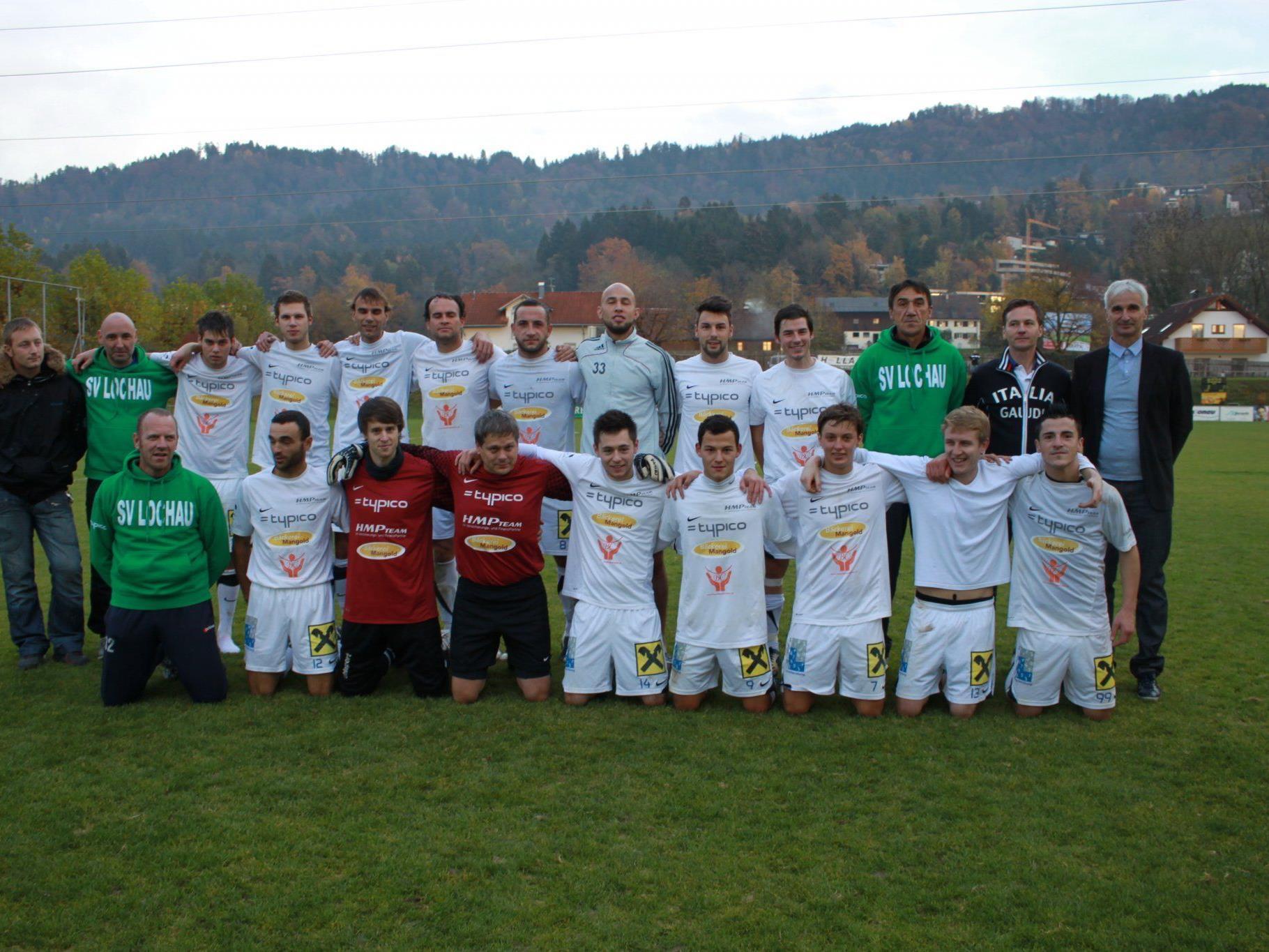 SV Lochau überwintert in der Landesliga auf Platz eins.