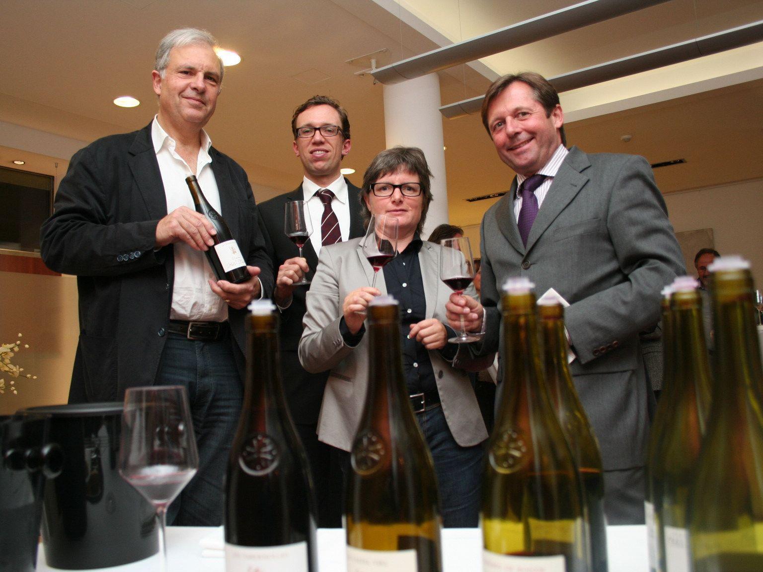 Denis Feigel, Dir .Peter Scherbaum, Irmgard Bickel und Dir. Peter Jenewein.