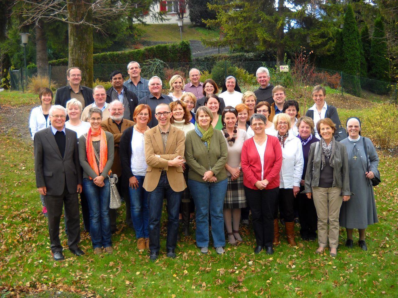 Seelsorger, Pfarrgemeinderäte/innen, Klostervertreter mit Pastoralamtsleiter Dr. Walter Schmolly
