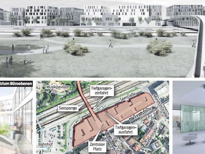 Die neue Seestadt in Bregenz. Das Millionenprojekt soll bis 2015 fertig sein.