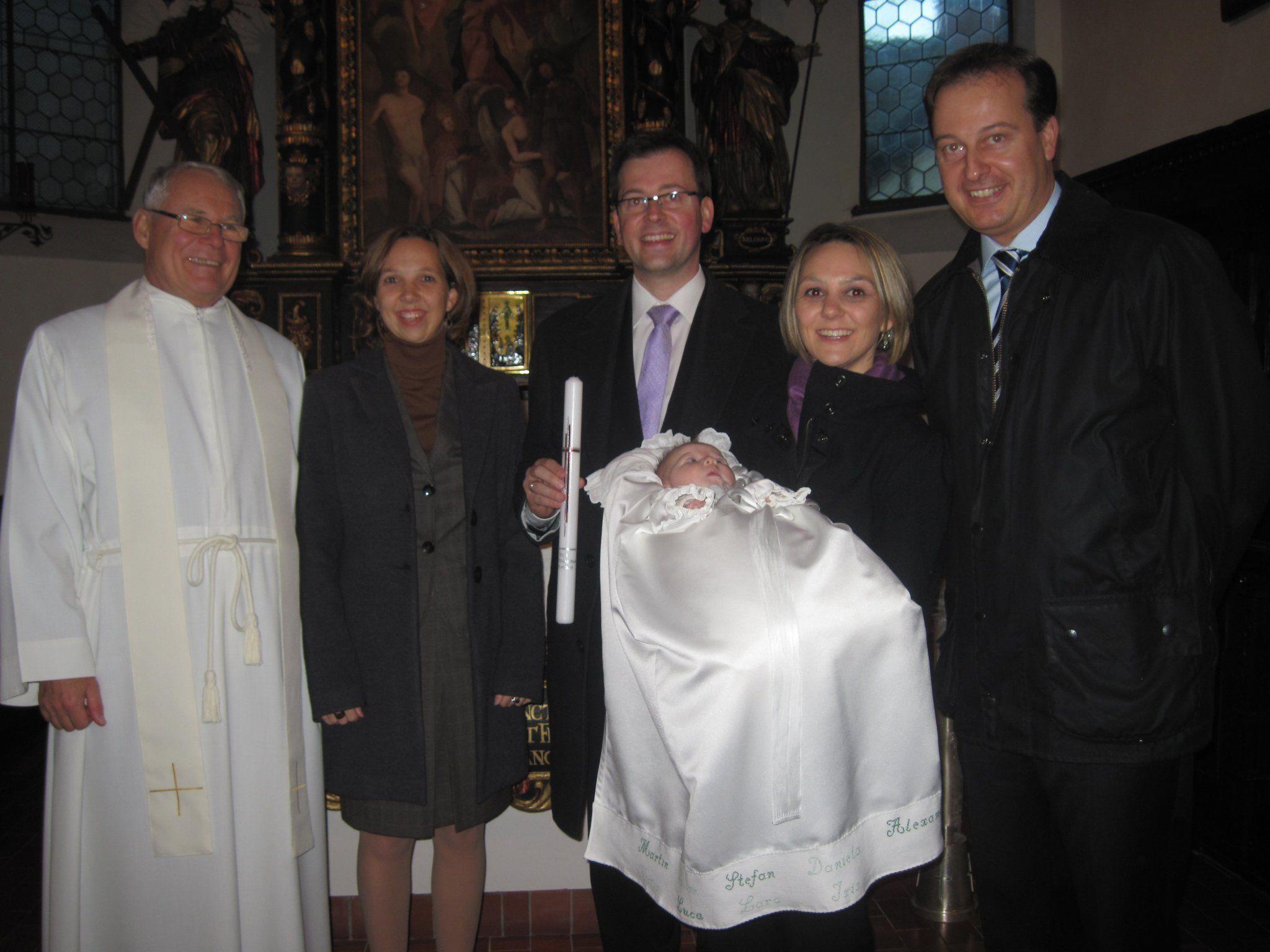 Iris Katharina wurde in der Dreifaltigkeitskirche getauft