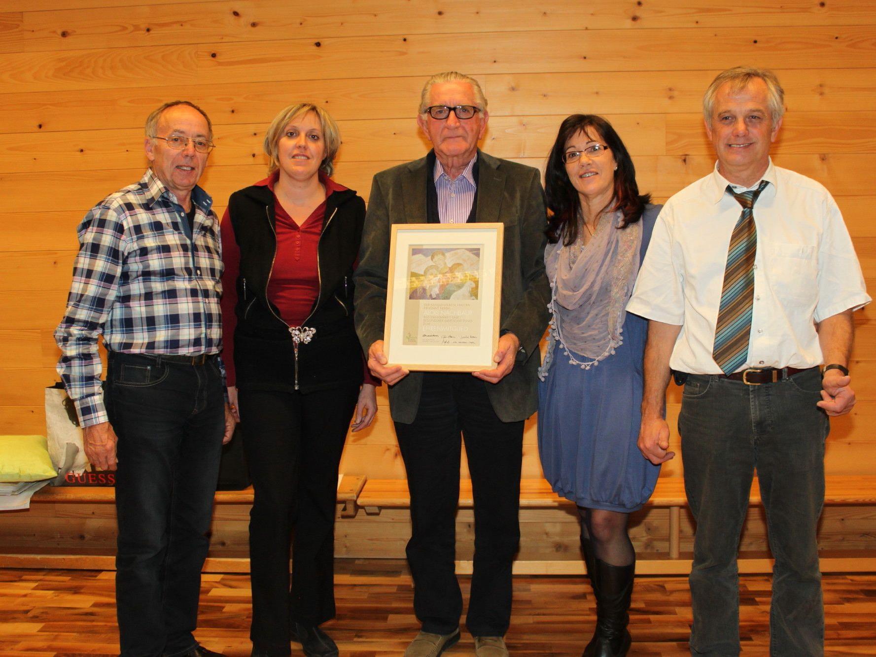 v.l.: Werner Nachbaur, Karin Nachbaur, Alois Nachbaur, Carmen Nachbaur, Kurt Nägele
