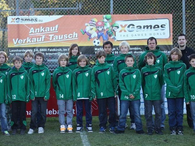 Das U13 Team des FC Renault Malin Sulz mit Stephan Brauner