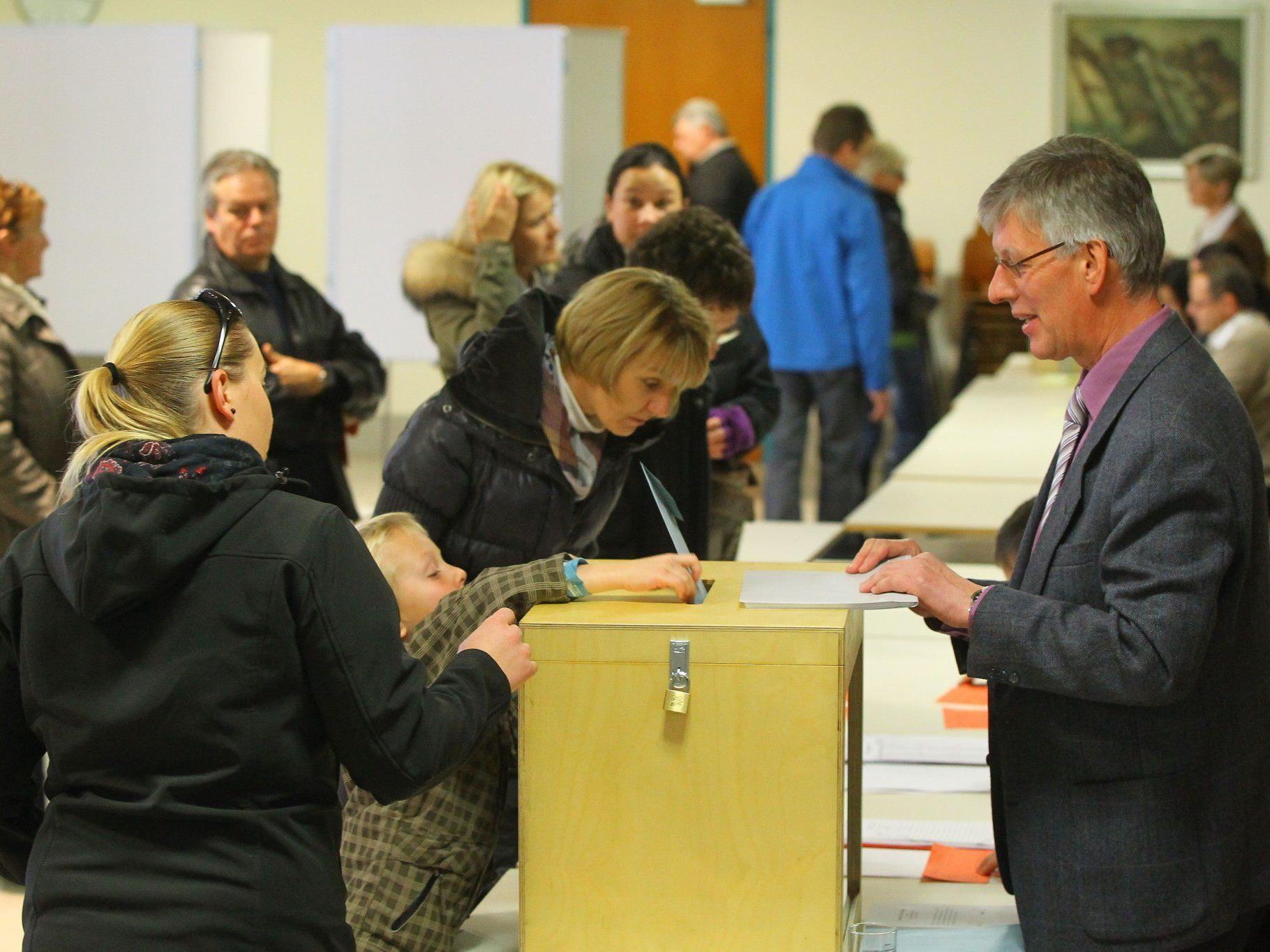 59 Prozent der Wahlberechtigten gaben am Sonntag in Schruns ihre Stimme ab.