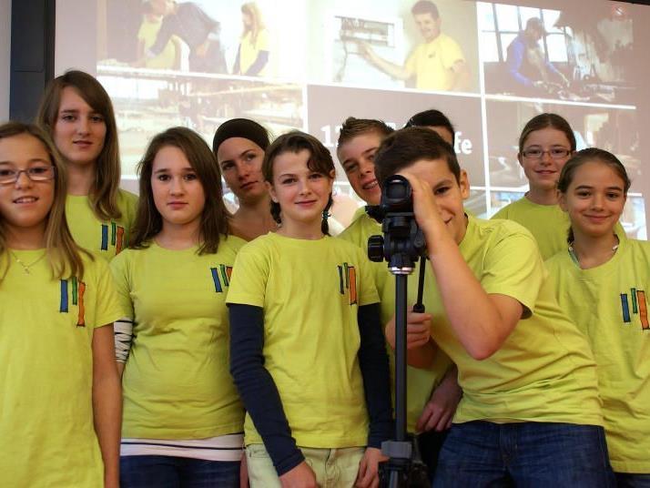 Die Filmcrew der Mittelschule Alberschwende.