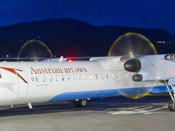 """AUA gegen """"Peoples"""": Die Austrian Airways wollen am Standort Altenrhein festhalten."""