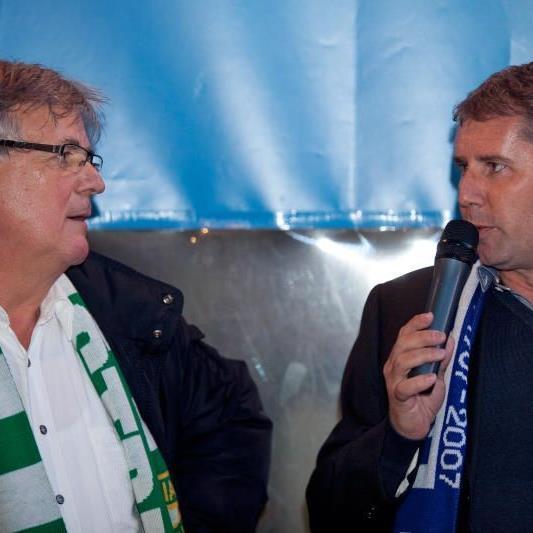 In Sachen Stadion scheiden sich die Geister: Austria-Präsident Hubert Nagel und FCL-Klubchef Dieter Sperger.