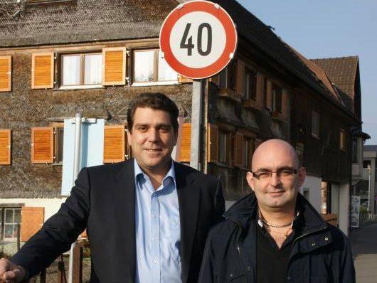 Bgm. Köhlmeier und Markus Gritschacher vom Mobilitätsausschuss.