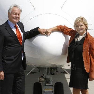 Rolf Seewald und Renate Moser haben mit der deutschen Intro Aviation einen Favoriten für die 50-Prozent-Beteiligung gefunden.