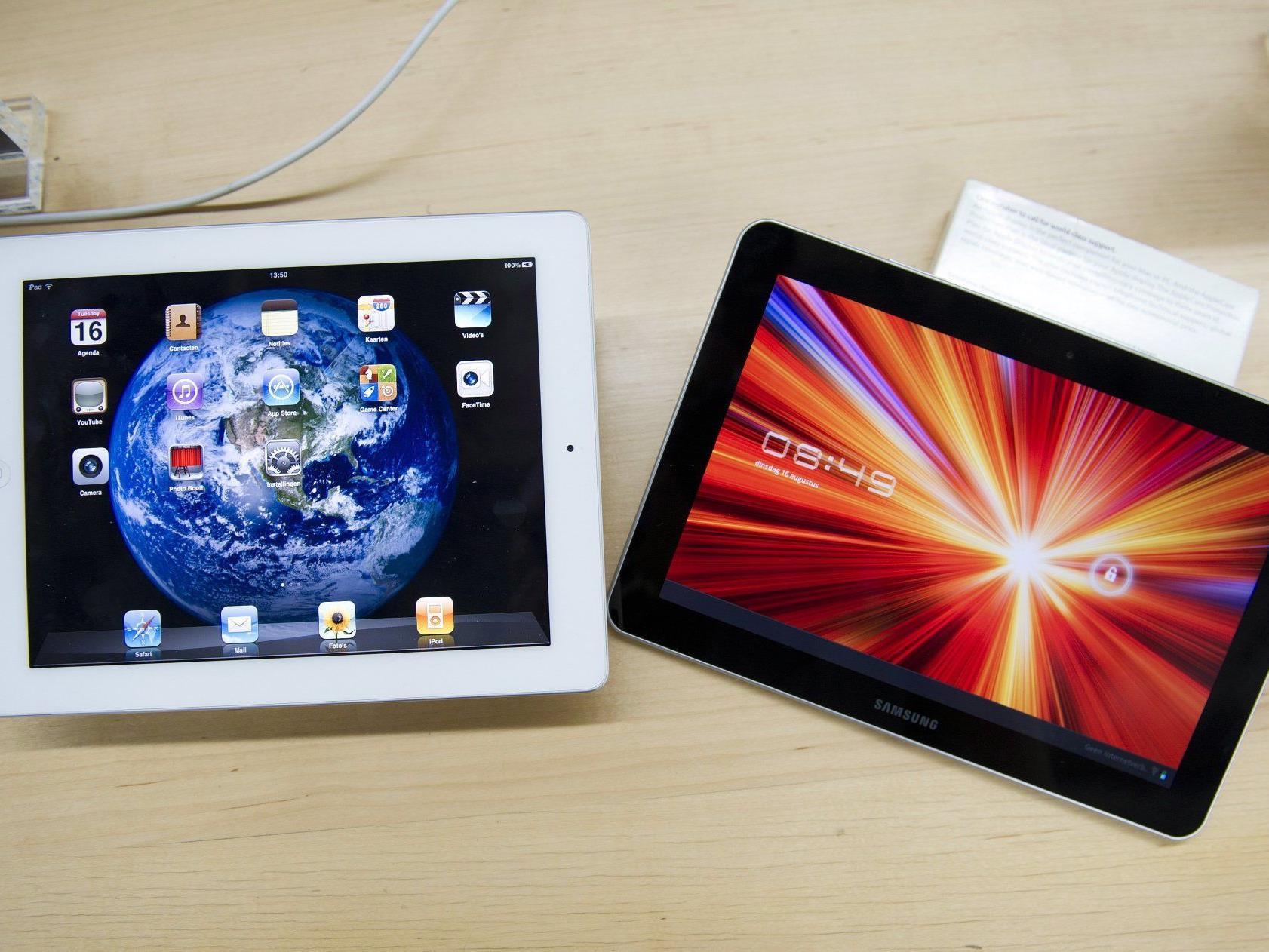 Das Ipad2 (l) musste sich dem Galaxy Tab 10.1 (r) knapp geschlagen geben.