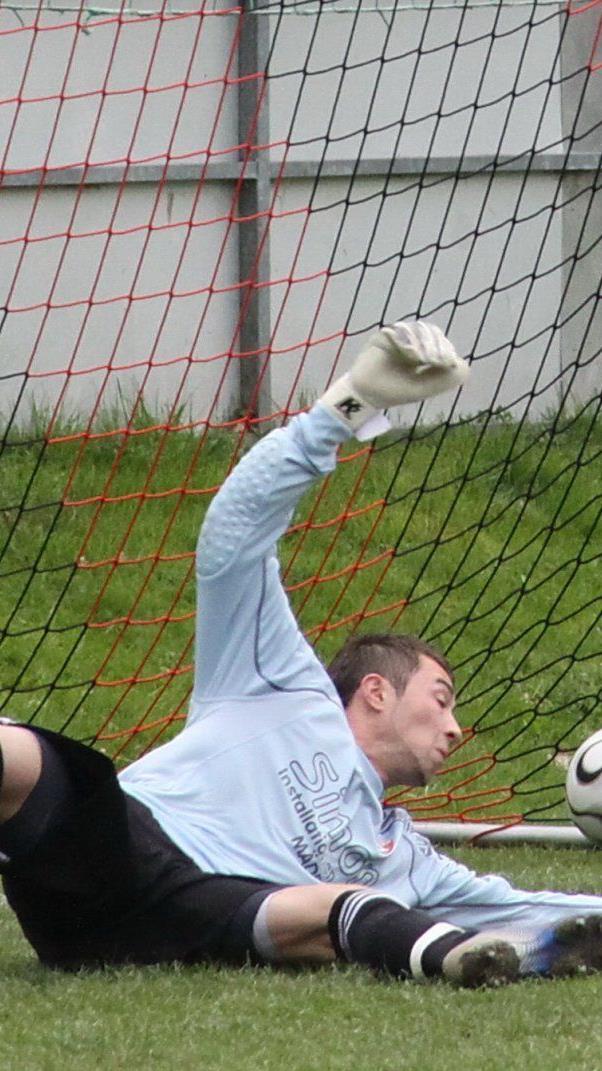Marko Solaja steht im Frühjahr im Göfner Tor.