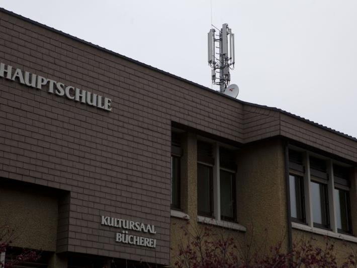 """Der neue Sendemast auf dem """"grünen Haus"""" soll die UMTS-Versorgungslücke im Strohdorf schließen."""