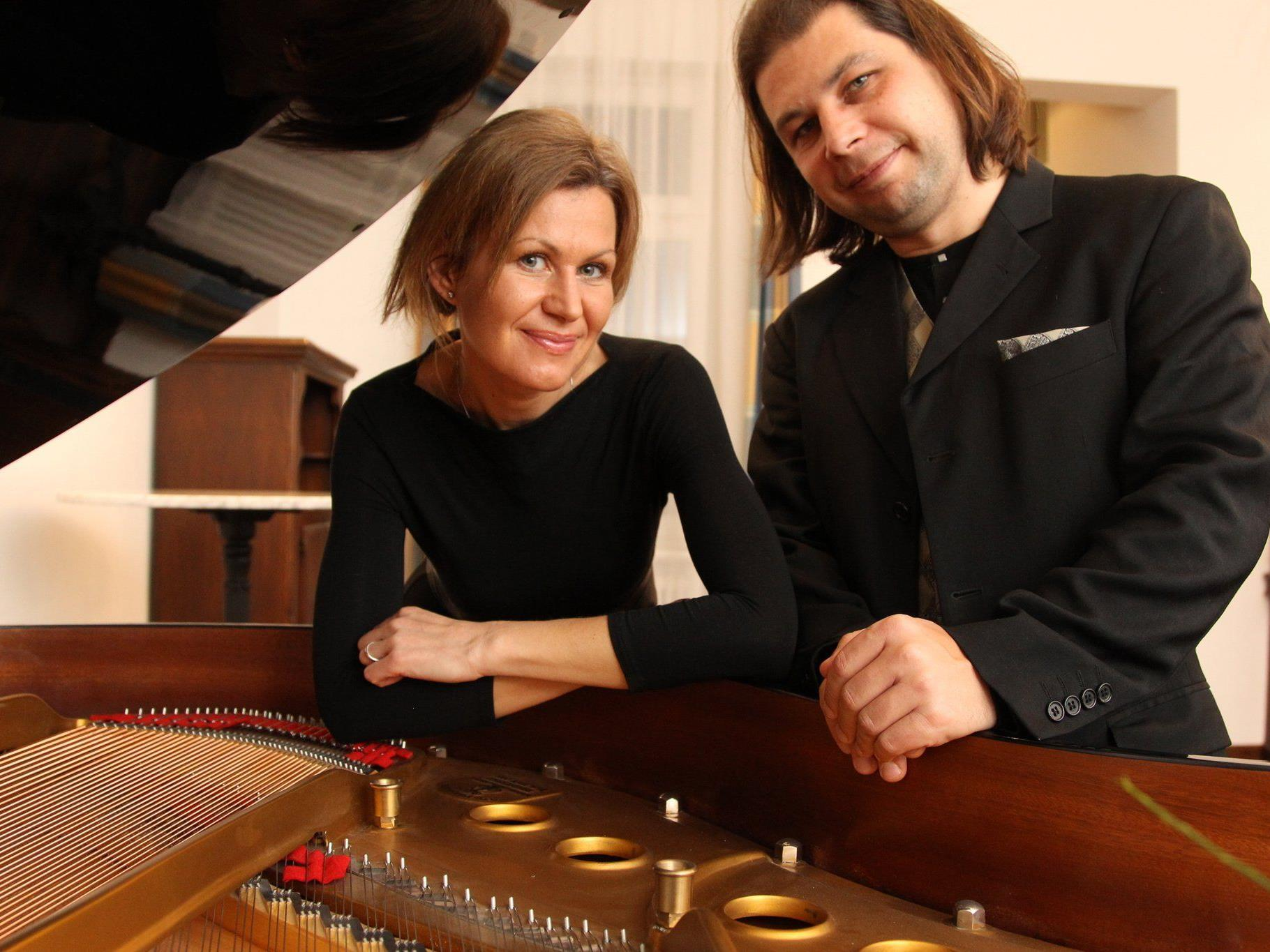 Jeanne und Vladimir Mikitka am 18. November in der Villa Falkenhorst