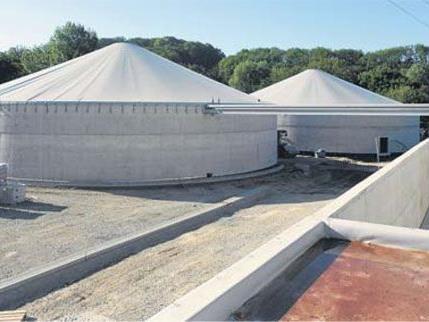 Die soeben eröffnete Biovergärungsanlage in Backnang-Neuschöntal bei Stuttgart.