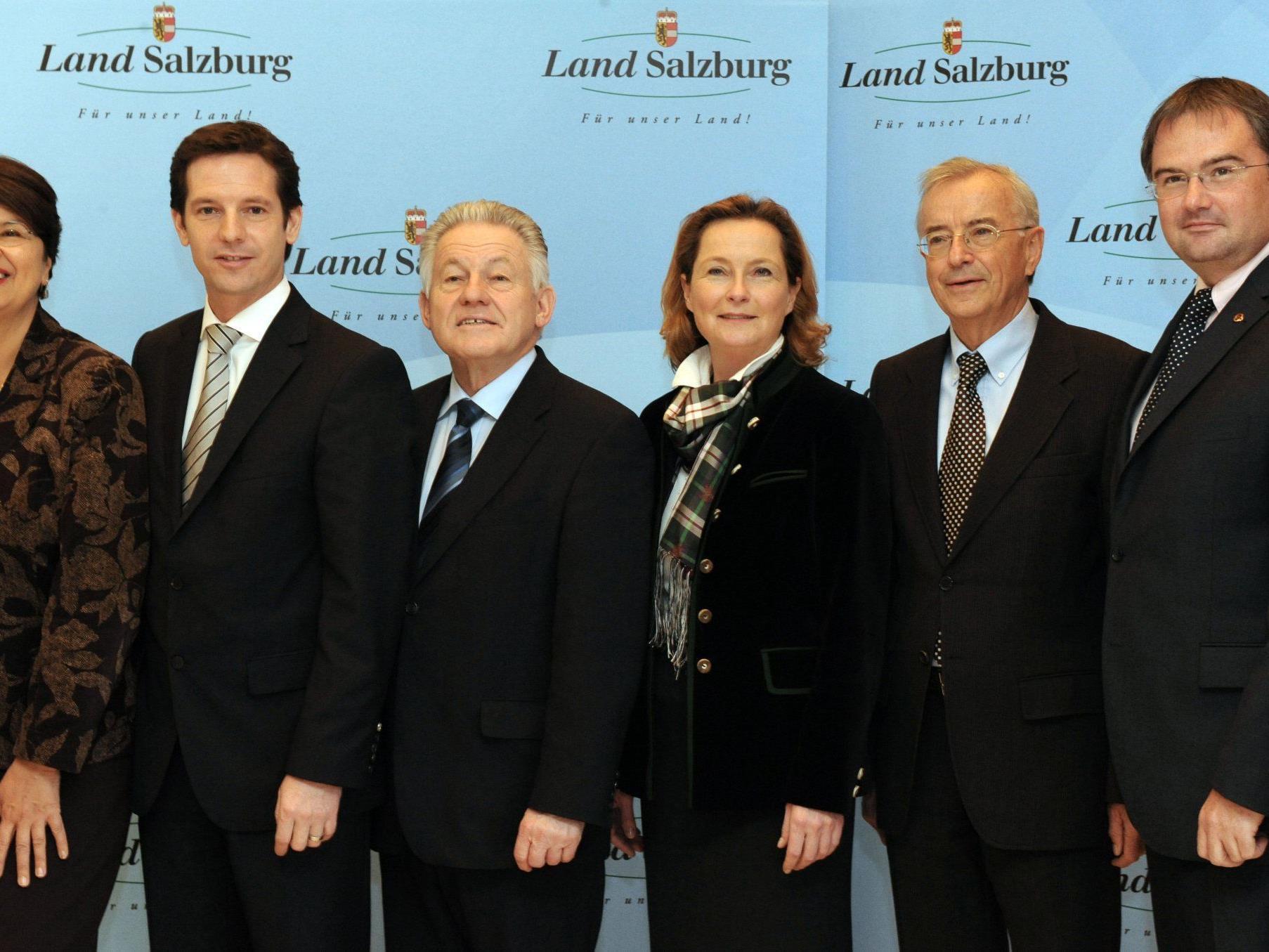 LHStv. Renate Brauner (Wien), LHStv. David Brenner (Salzburg), LH Josef Pühringer Oberösterreich), LR Bettina Vollath (Steiermark), LH Herbert Sausgruber (Vorarlberg) und LR Christian Switak (Tirol)