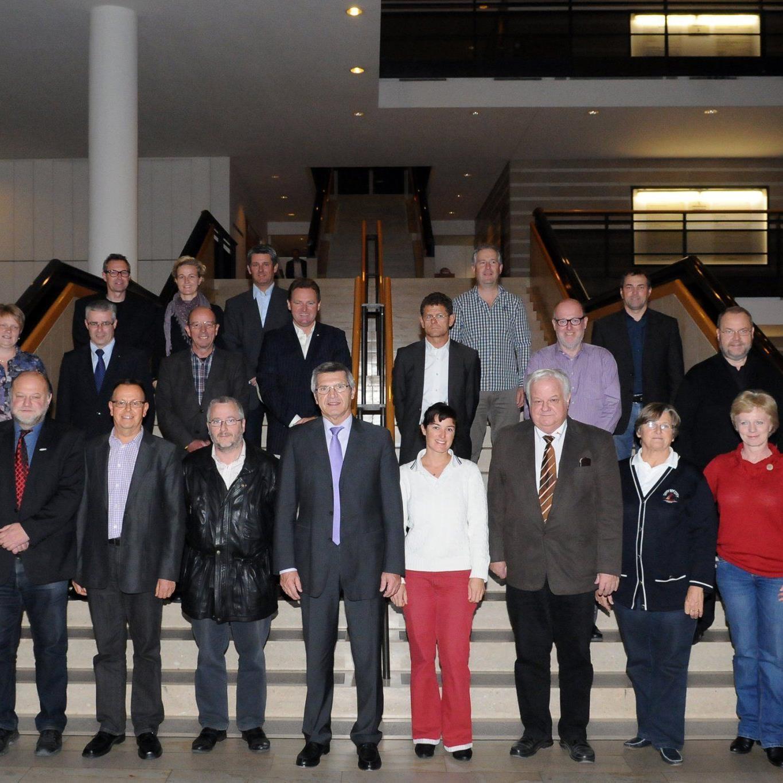 Die Mitglieder des Sportbeirates trafen sich im Landhaus zur ersten Sitzung in der neuen Funktionsperiode.