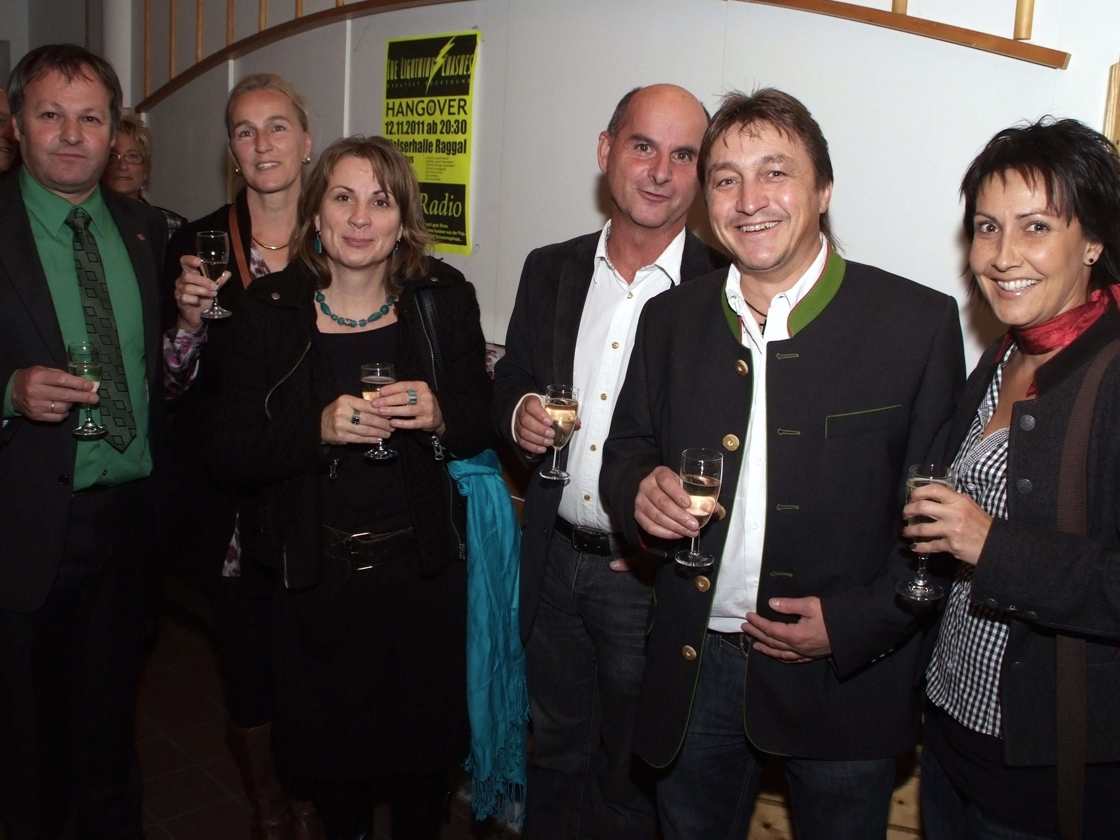 Stefan Bachmann sowie Bruno und Susanne Summer mit Werner und Manuela Konzett.