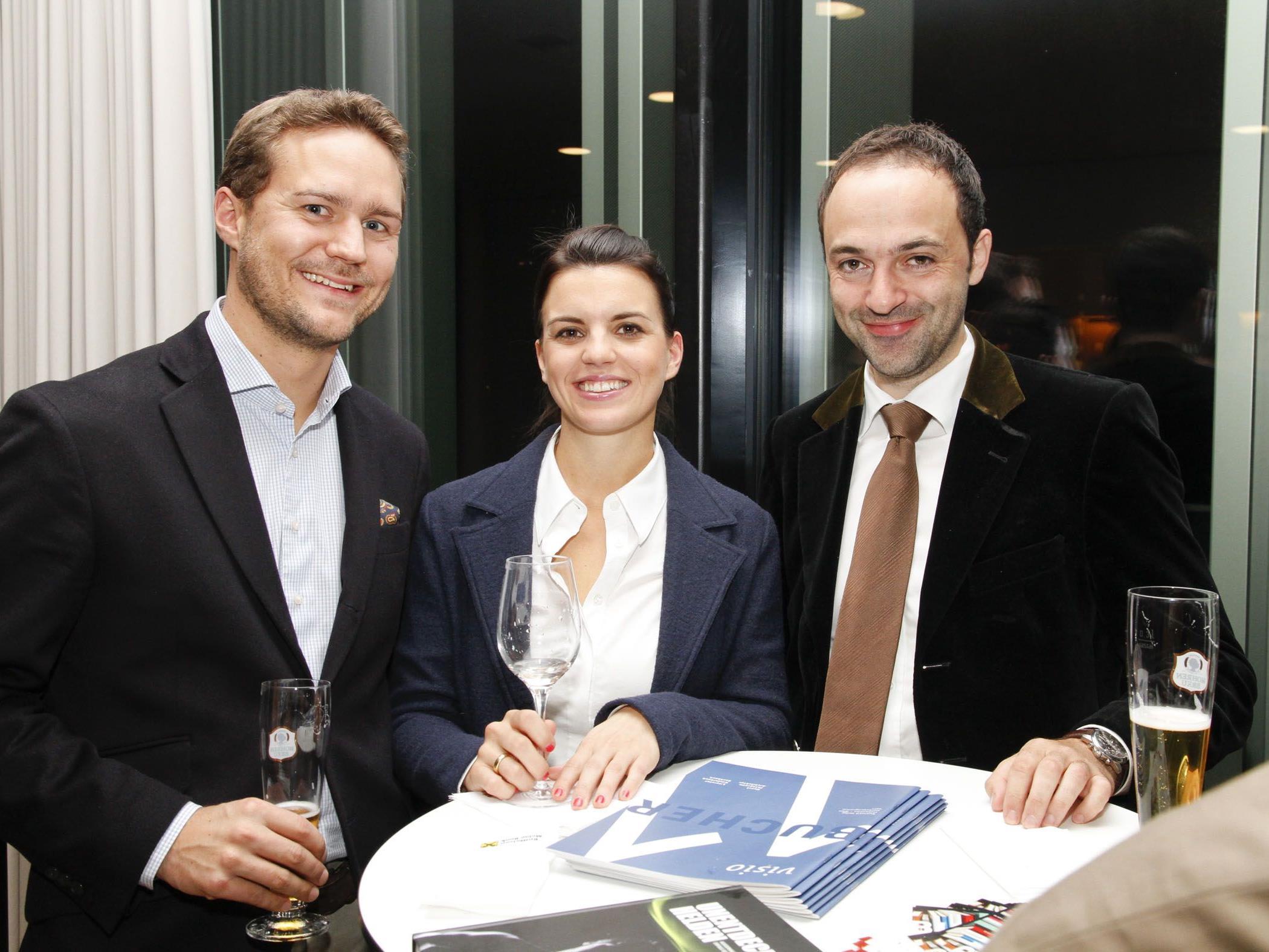 Clemens und Caroline Sagmeister mit Matthias Marxgut.