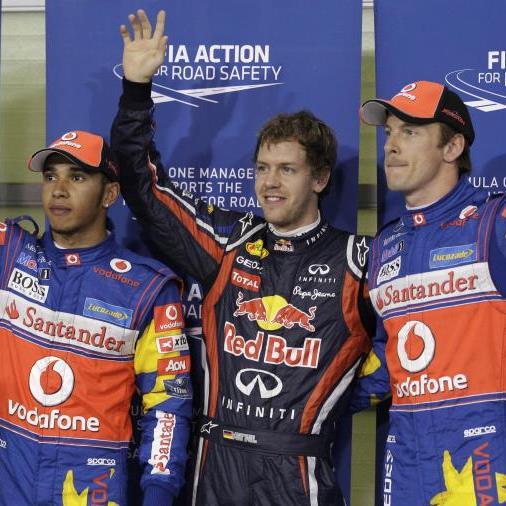 14. Pole Position der laufenden Saison für Vettel