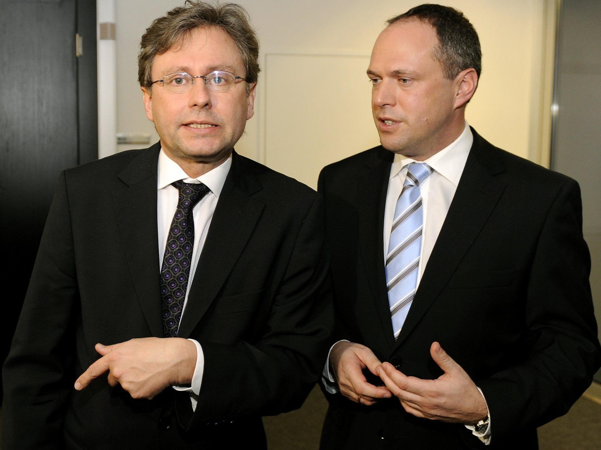 """Dürfen sich über Geldregen freuen, geben aber keine """"Einzelinterviews"""" dazu: Generaldirektor Wrabetz (l.) und Finanzchef Grasl."""