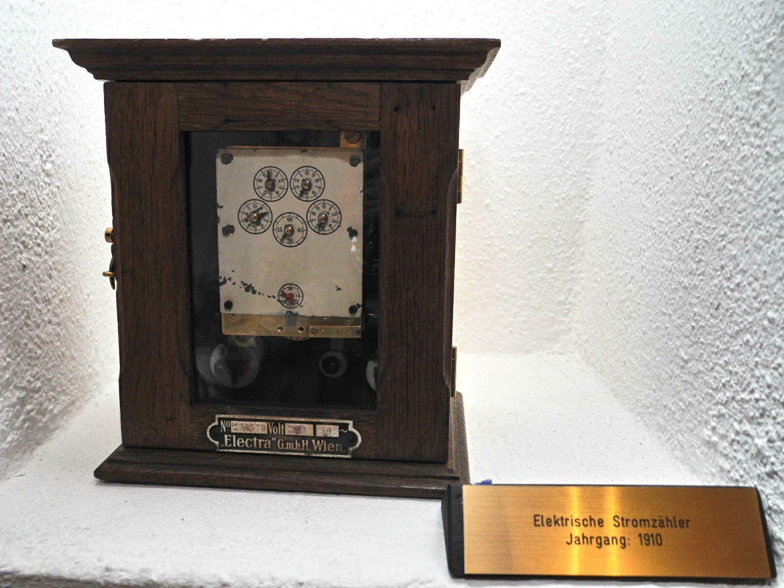 """Mit diesem """"Stromzähler wurde vor 100 Jahren der Stromberbrauch gemessen"""