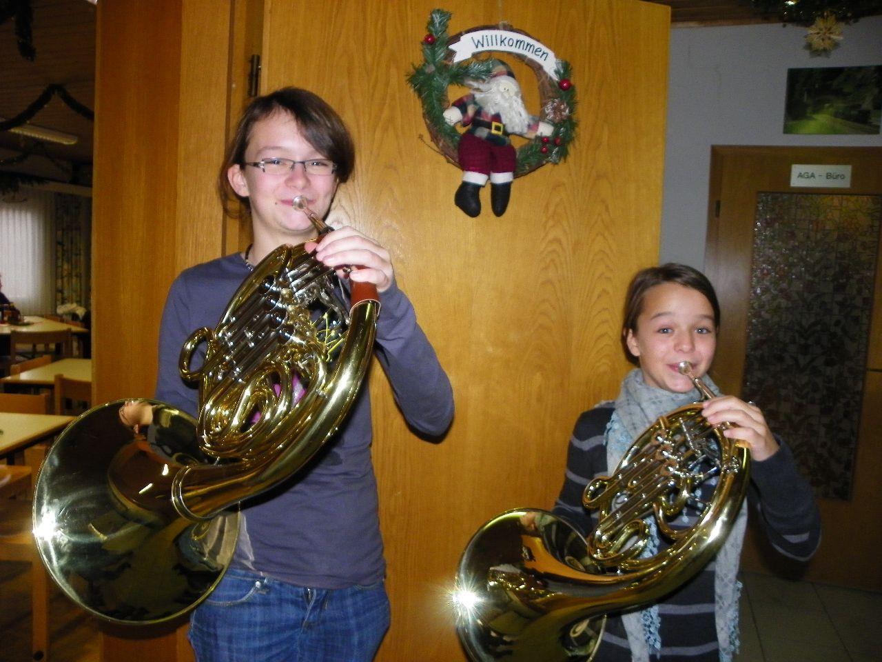 Die Gäste wurden mitweihnachtlichen Weisen begrüßt