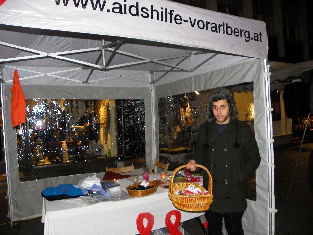 Infostand am Nikolausmarkt in Bregenz